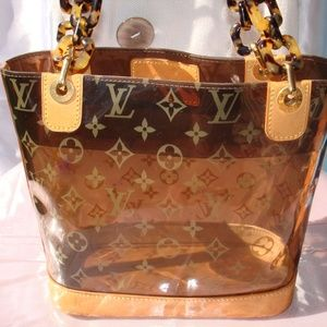 LOUIS VUITTON Monogram Clear Vinyl Cabas Ambre PM